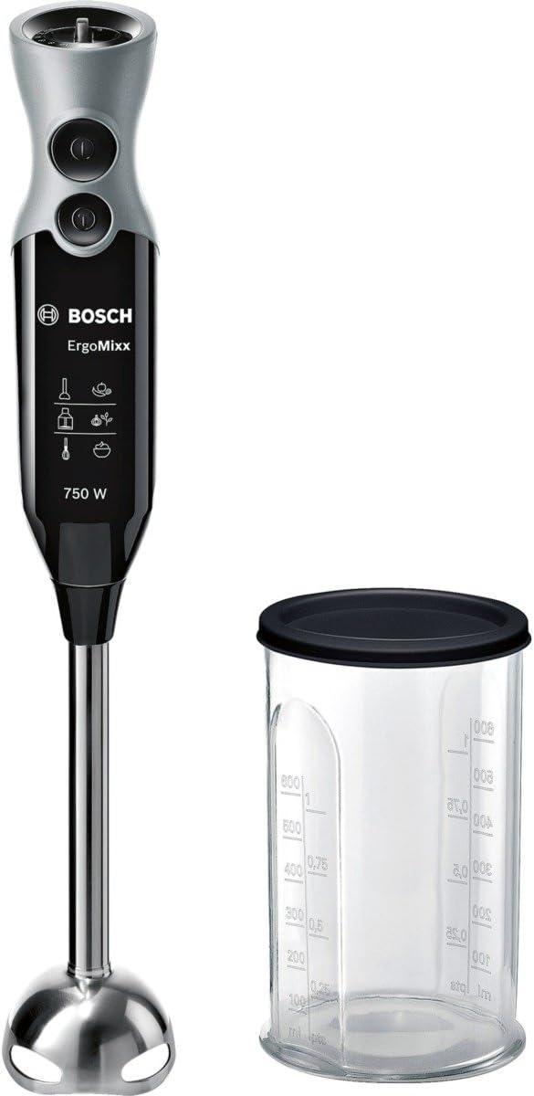 Bosch MSM67110 ErgoMixx Batidora de mano, 750 W, color negro y acero