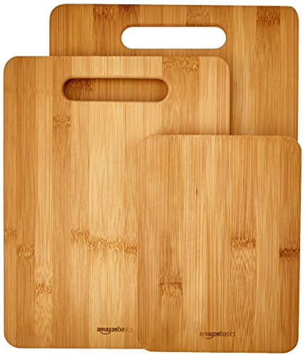 AmazonBasics 3 Piece Bamboo Cutting Board