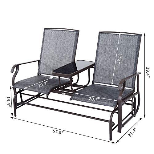 Patio Glider Rocking Chair Bench Loveseat 2 Person Rocker Deck Outdoor Furniture (Outdoor Amart Furniture)