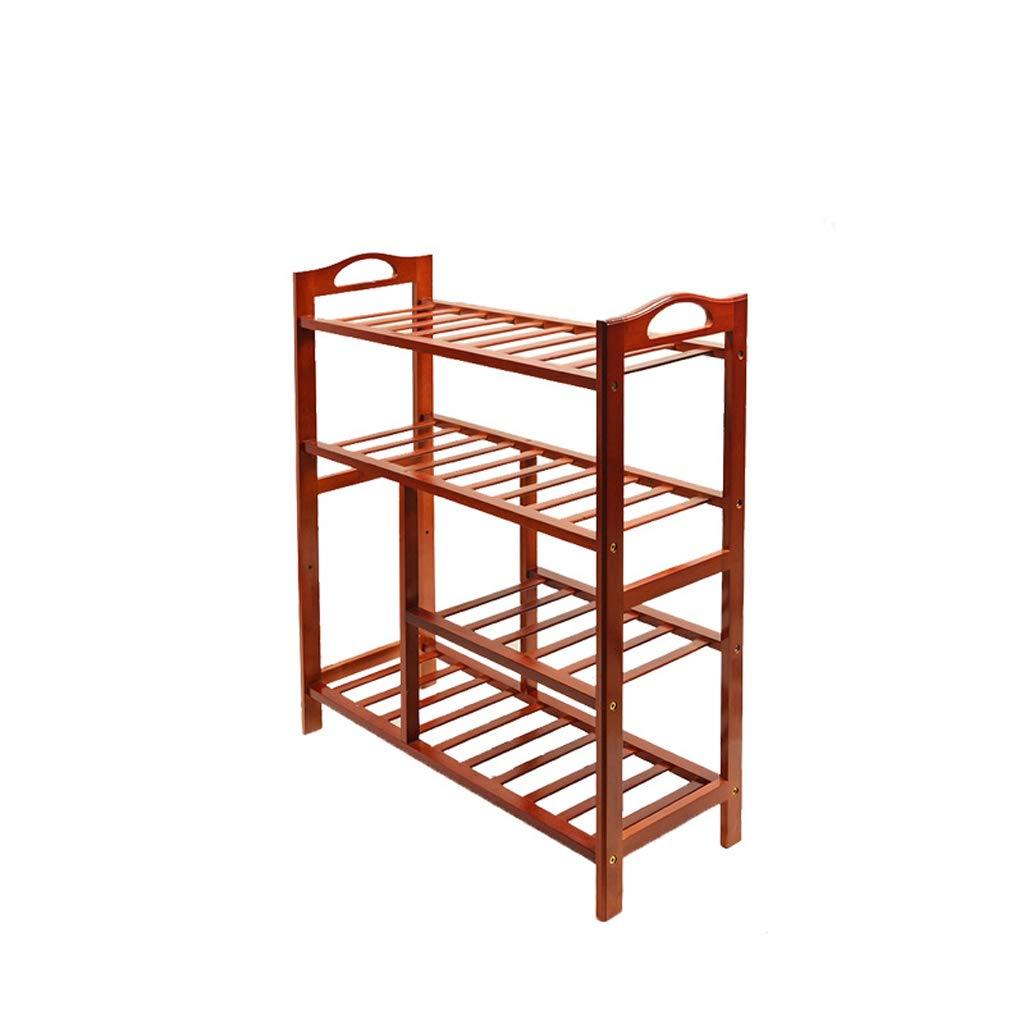 HQQ Creative Bamboo Shoe Rack Mehrschichtiges Rack-Lagerregal