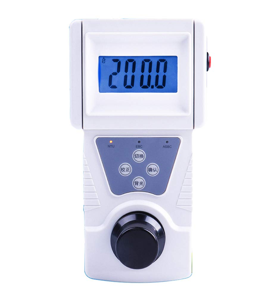 NEWTRY Digital Water Turbidity Meter Portable Handheld Turbidimeter 0~200 NTU, ISO7027 Compliant, 90° Scattered Light Accuracy 0.1 with Backlight (110V, SGZ-200BS) by NEWTRY