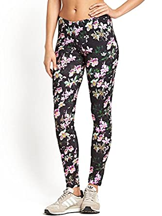 f86481d9be1bf Adidas Originals Orchid Flower Print Leggings -: Amazon.co.uk ...