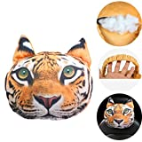 KOSBON Cute Animal 3D Dog Car Neck Pillow Lovely Auto Neck Rest Cushion Headrest Pillow Pad (Tiger)