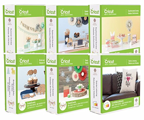 Anna Griffin Cricut Cartridges Soiree Bundle Lot Seasonal Cards Fonts Crafts by Cricut
