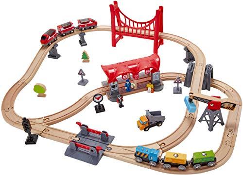 Hape Railway Wooden Train Busy City Rail ()