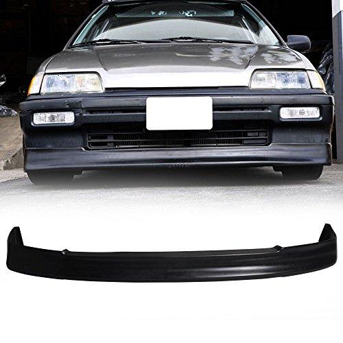 Honda Civic 4dr Wagon (88-89 Honda Civic 4dr Sedan And Hatchback/88-91 Honda Civic Wagon Poly Urethane CS Add-On Front Bumper Lip Spoiler Bodykit Urethane)