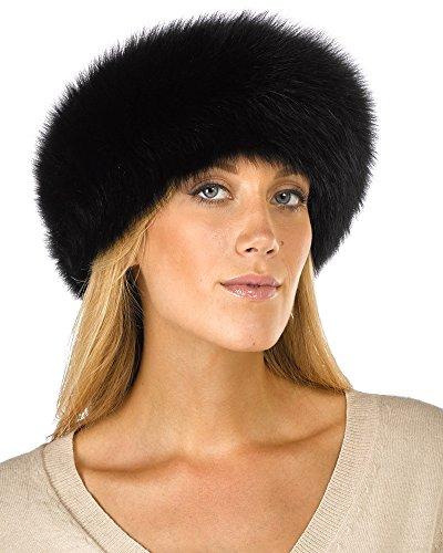 - Black Fox Fur Headband
