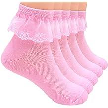 Sept.Filles 5 Pack Girl's Anker Lace Top Dress Socks