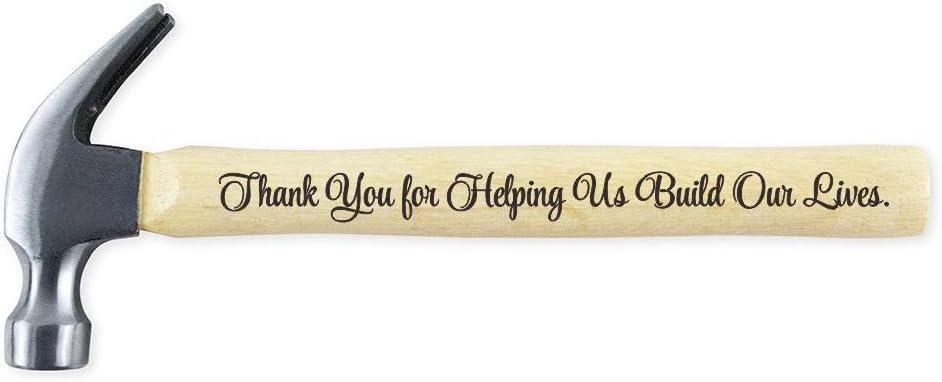 Regalo para el día del padre, gracias por ayudarnos a construir nuestro futuro. Martillo de acero con mango de madera grabado, regalo de cumpleaños, regalo de Navidad para papá