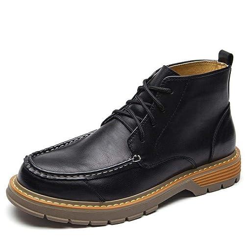 Top Calzado Británica Retro Zapatos Martin Botas Alto Hombre zUVpGSqM