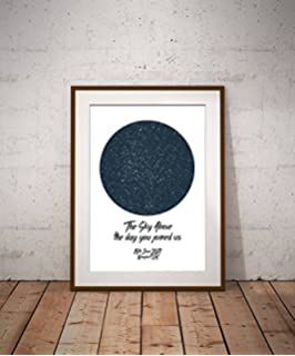 Star Map By Date And Location.Personalised The Night We Met Star Constellation Map Night Sky