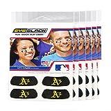 (24 Strips) Eye Black - Oakland Athletics MLB Eye Black Anti Glare Strips, Great for Fans & Athletes on Game Day