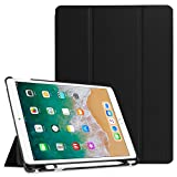 Fintie iPad Pro 10.5 Case with Built-in Apple Pencil Holder - [SlimShell] Ultra Lightweight Standing Protective Cover with Auto Wake/Sleep for Apple iPad Pro 10.5 Inch 2017 Tablet, Black