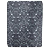 Gothic Flower Fantasy Fitted Sheet: King Luxury Microfiber, Soft, Breathable