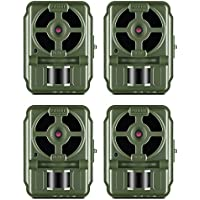 Primos Hunting Proof Cam 10MP Low Glow Video 70 Foot Game Trail Camera, 4 Pack