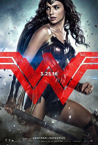 BATMAN V SUPERMAN DAWN OF JUSTICE Original Movie Poster 27x40 - DS - VERSION E - WONDER WOMAN - GAL GADOT