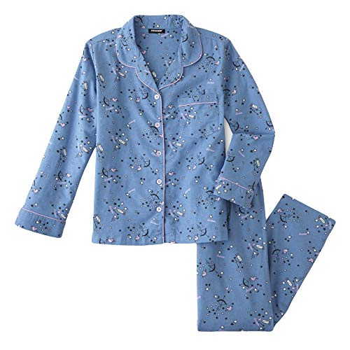 (Joe Boxer Women's Plus Size 2-Piece Flannel Pajamas Shirt & Pant Set (Dreamer, 1X Plus))