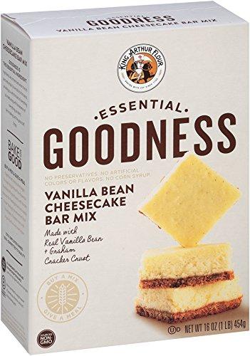 King Arthur Flour Essential Goodness Vanilla Bean Cheesecake Bar Mix, 16 Ounce
