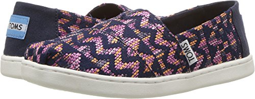 Toms Youth Alpargata Fuchsia Colorful Tribal Shoes 5