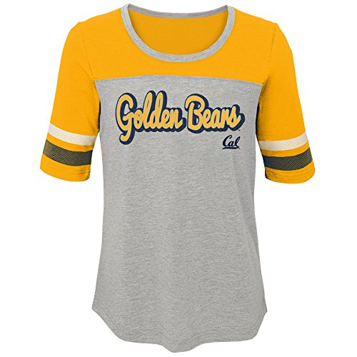 "NCAA by Outerstuff NCAA California Golden Bears Youth Girls ""Fan-Tastic"" Short Sleeve Tee, Gold, Youth Small(7-8)"