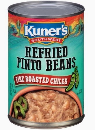 Kuner's Southwest Refried Pinto Beans - Fire Roasted Chiles 16 oz. (Pack of 2) ()