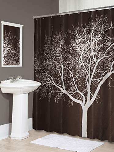 (Splash Home Tree Polyester Fabric Shower Curtain, 70