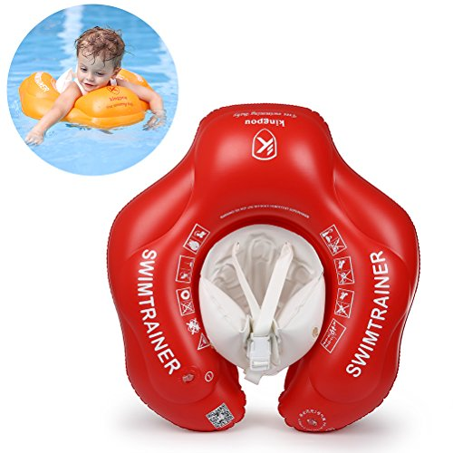 Free Swimming Baby Inflatable Baby Swimming Float Children Underarm Swim Trainer for Swimming Pool/Bathtub with Sponge Abdominal Protection Design(Red, ()