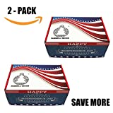 ussell Decor LED USA Pleated American Flag Lights 4 x 2 Feet Politic Decoration Independence Day July 4th (2-4 Pack) (2)