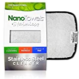 """Nano Towels Stainless Steel Cleaner   The Amazing Chemical Free Stainless Steel Cleaning Reusable Wipe Cloth   Kid & Pet Safe   7x16"""" 1 Ct."""
