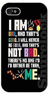 """iPhone 6 (4.7"""") Bible Verse - I am bad and that's good. I will never be good and that's not bad. There's no one I'd rather be than me - black plastic case / Verses, Inspirational and Motivational"""