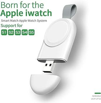 VEVICE Cargador para iWatch portátil, magnético, inalámbrico, USB, Carga rápida, Compatible con iWatch Series 54321 (Color Blanco)
