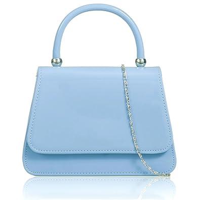 4f678afbfc1d1 Xardi London Blue Ladies Evening Prom Grab Bag Patent Leatherette Women  Girl Bridal Clutch Handbag: Amazon.co.uk: Shoes & Bags