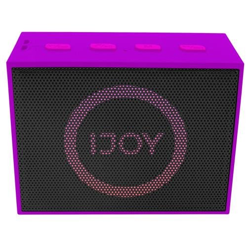 Ijoy The Minimal, Mini Wireless Bluetooth Stereo Speaker with LED Dancing Light - Purple