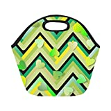Best Green Sprouts ice pack - Insulated Neoprene Lunch Bag Heart Green Yellow Cream Review