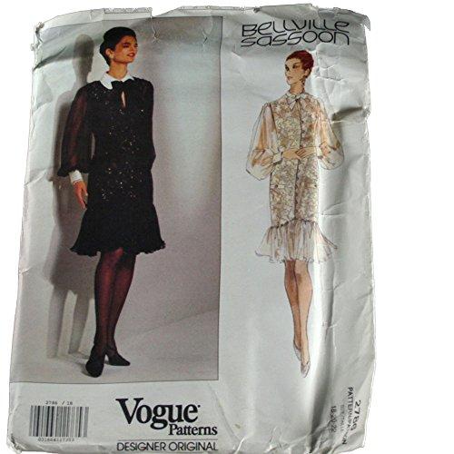 vogue-2786-designer-original-sewing-pattern-bellville-sassoon-misses-dress-size-182022