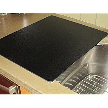 Vance Extra Large Black 16 X 20 Inch Surface Saver For Over Sink Food Prep,