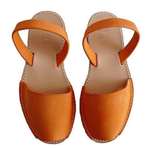 sandalias Nobuck abarcas Naranja colores avarcas menorquínas varios Auténticas albarcas HqPY8Y