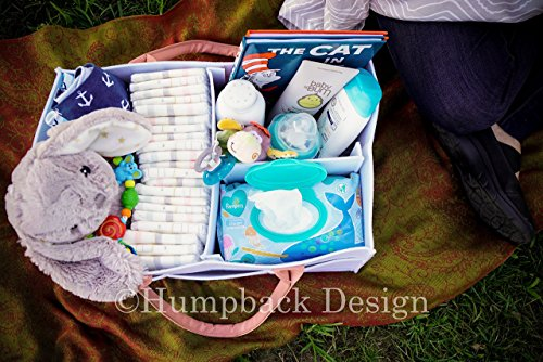 Diaper Caddy Organizer Bundle With Free Bib Baby Shower Gift For