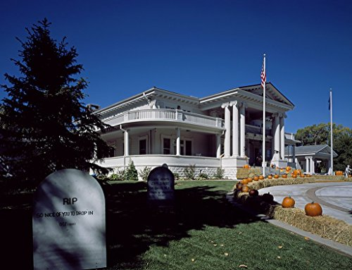 Carson City, NV Photo - Governor's Mansion decorated for Halloween in Carson City, Nevada - Carol Highsmith