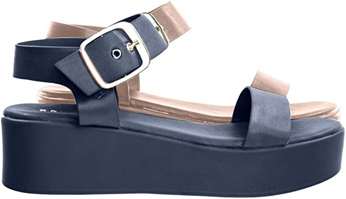 BAMBOO Flatform Open Toe Sandal w