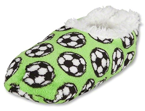 Snoozies Slippers Green Soccer Slippers Green Green Slippers Soccer Snoozies Soccer Snoozies rqwrvP4