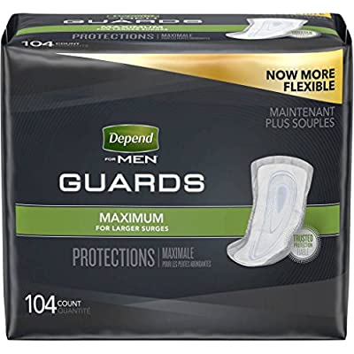 Depend Shields for Men, Light Absorbency Incontinence Protection, 58 Count