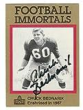 immortal merchandise - Autographed Chuck Bednarik Philadelphia Eagles Football Immortals Card, #14 with COA