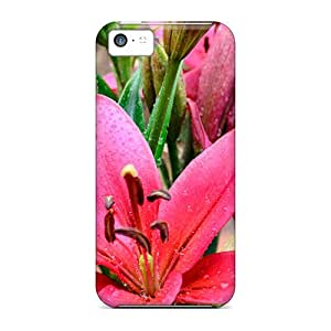 Premium [SEe8464GMvY]wet Lilies Case For Iphone 5c- Eco-friendly Packaging