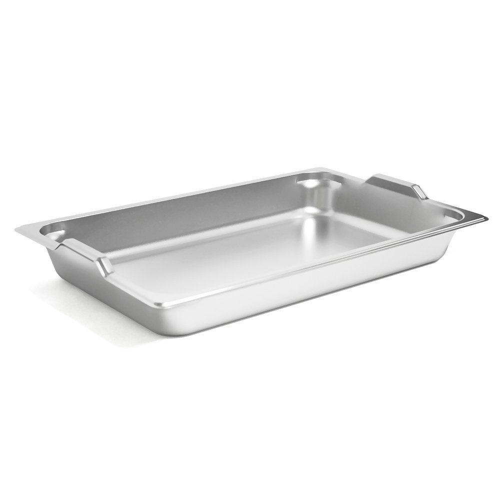 Full size steam table pan GN hotel pan with handles electro polishing (2 1/2'' 6 pcs)