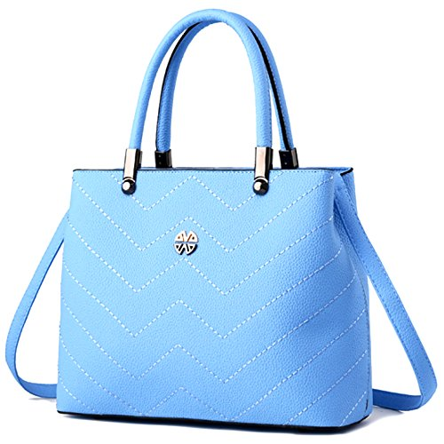 Minch Women PU Leather Designer Tote Handbags Shoulder Bags for Work on  Clearance (Light Blue) - Buy Online in UAE.   Paperback Products in the UAE  - See ... 44ff3e6a20