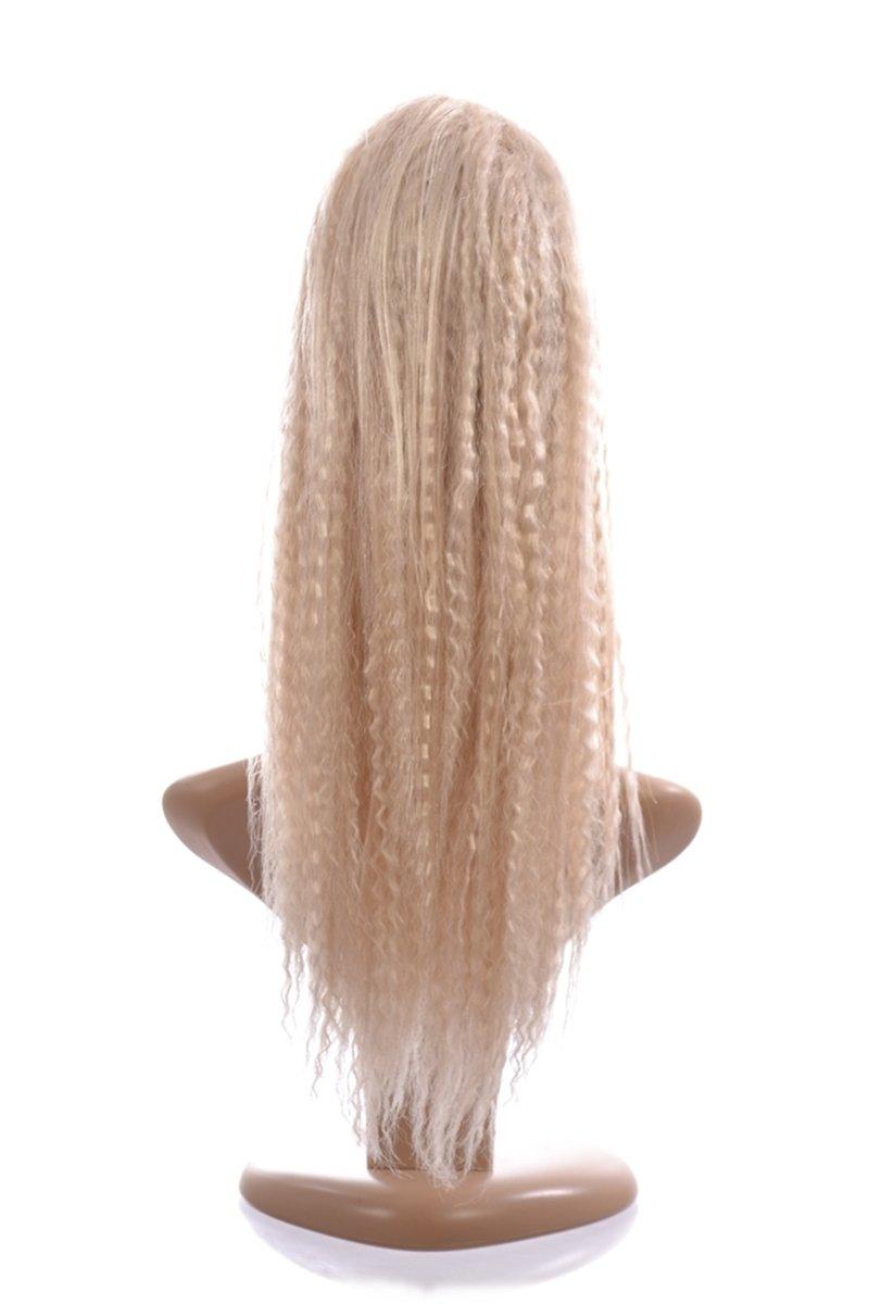 Platinum Blonde Pony Crimp Ponytail Hairpiece