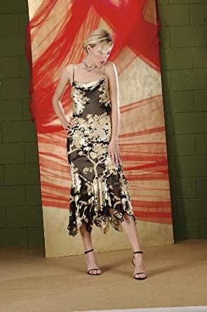 Where to Buy 1920s Dresses Aris a Embroidered Silk Dress-Black/Biege $129.99 AT vintagedancer.com
