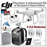 DJI Phantom 4 Quadcopter w/ Backpack Bundle: Includes 2 Intelligent Flight Batteries, Soft Padded Backpack, SanDisk 64GB MicroSD Card and more...