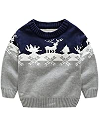 Kids Wear Snowflake Reindeer Boys and Girls Christmas Sweater